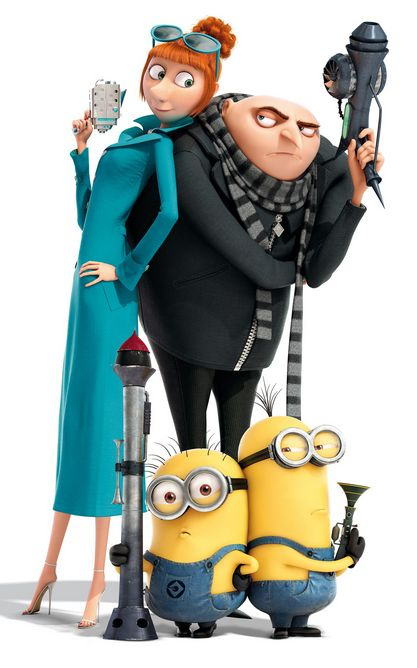 Despicable Me 2. Gru meets Agent Lucy Wilde.