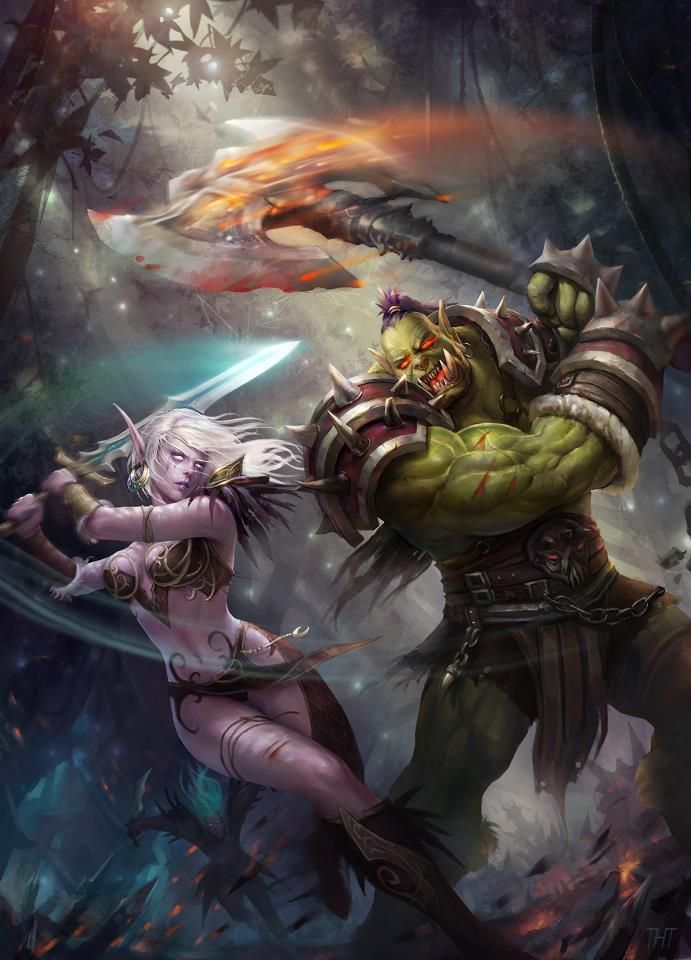 Night Elf Warrior Vs. Orc Warrior