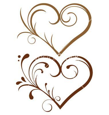 1543 lace heart vector 1253742 - by iaRada on VectorStock®