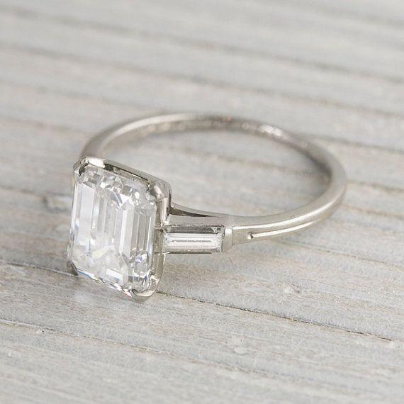 2,43 Bague de fiançailles de carat Vintage Tiffany & Co.