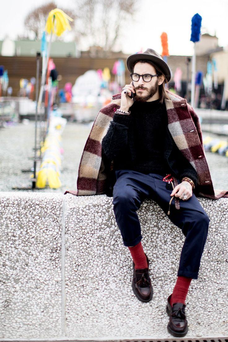 Firenze Pitti Uomo Men's Street Style Fall 2017 | Day 1