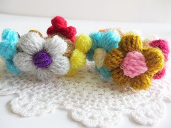 SALES 20% OFF Colorful Roses Crochet Hair Ties by Accessinity