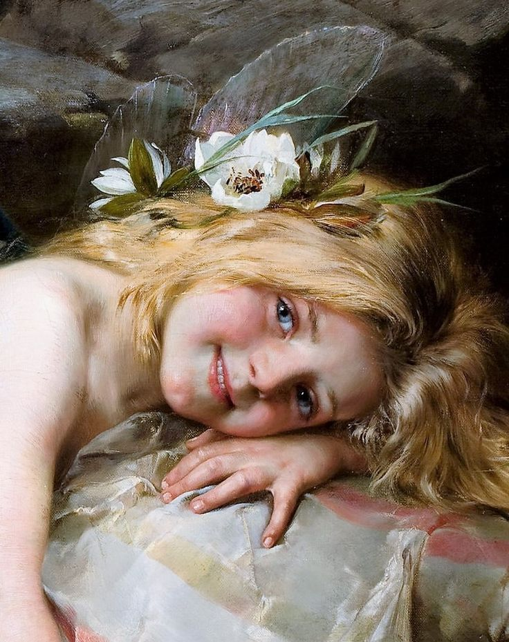 Haired shocking young nymphs