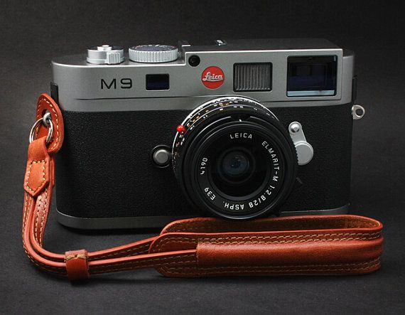 Handmade Leather Camera Wrist Strap for Digital by CamerasBagShop