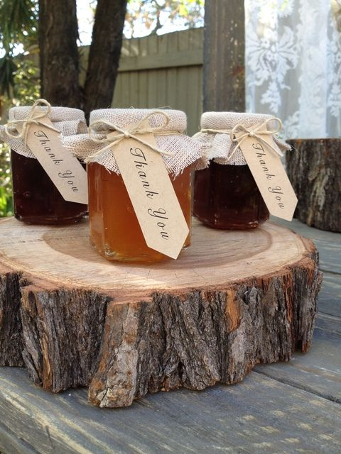 Cute jam favors at a Bridal Shower!  See more party ideas at CatchMyParty.com!  #bridalshower #partyideas