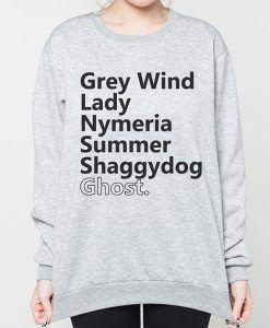 Direwolves Names Sweatshirts Unisex size, Unisex Sweatshirts