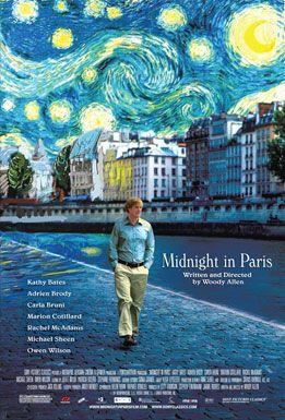 Midnight in Paris - travel themed movie