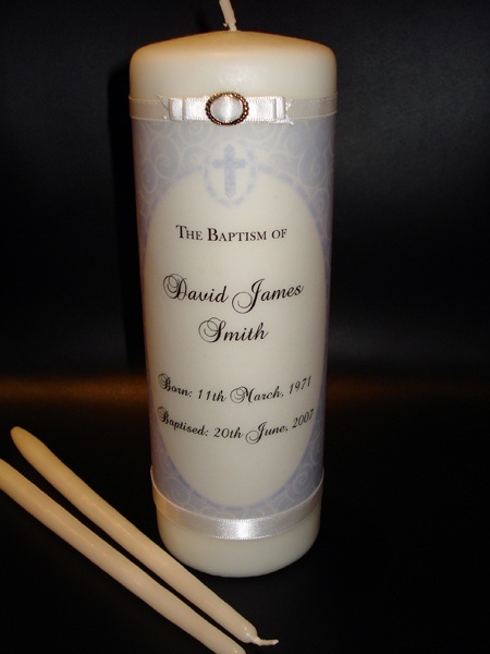Baptism white Candle - personalized # Vela blanca para Bautismo personalizada.