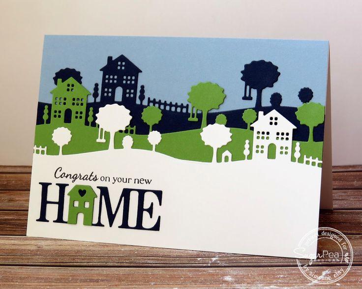 SugarPea Designs: Homescape by Simonne Clay   CAS, card, home, neighborhood, new home