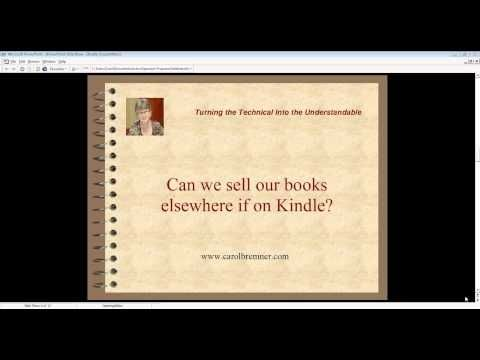 Kindle Tips From Teresa Miller - Today's training session is an interview with Teresa Miller. She answers Kindle questions, including: any special tools needed, difference between KDP and KDP select and when to use each, rules and restrictions.
