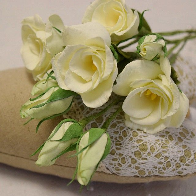 Эустома — нежные цветы из фоамирана — Рукоделие