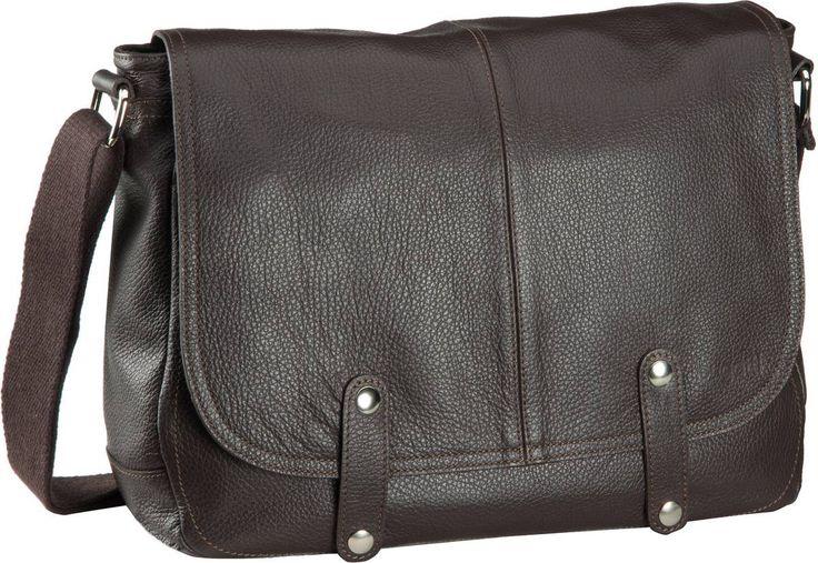 Bugatti Brisbane Messenger Bag Quer Medium Braun - Umhängetasche