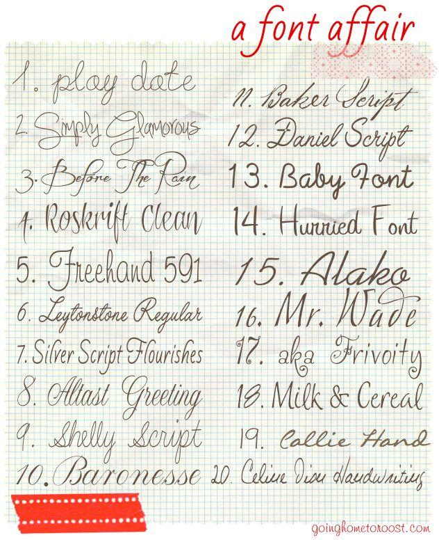 A Font Affair...lots of great fonts!