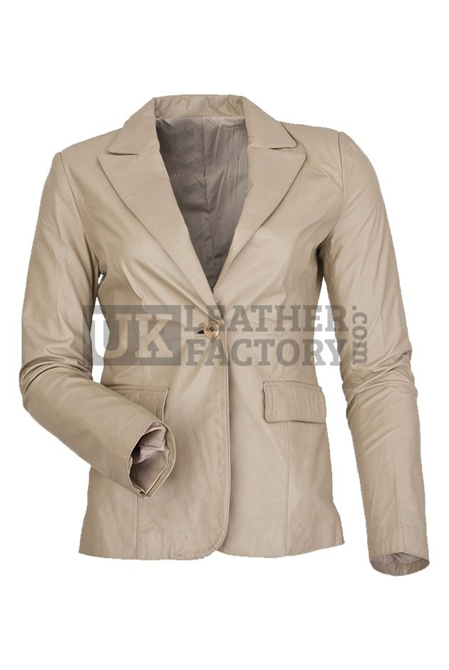 Discount Price@£153-Kate Upton leather jacket is priceless collection in the name of HOT model. Off-white genuine leather jacket for women is corporate fashion style icon. Wear to the boardroom or mix maroon with leather jacket for an outstanding display. Decency supreme.
