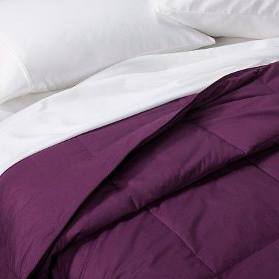 Down Alternative Bafflebox Comforter (Full/Queen) Plum (Purple) - Vcny