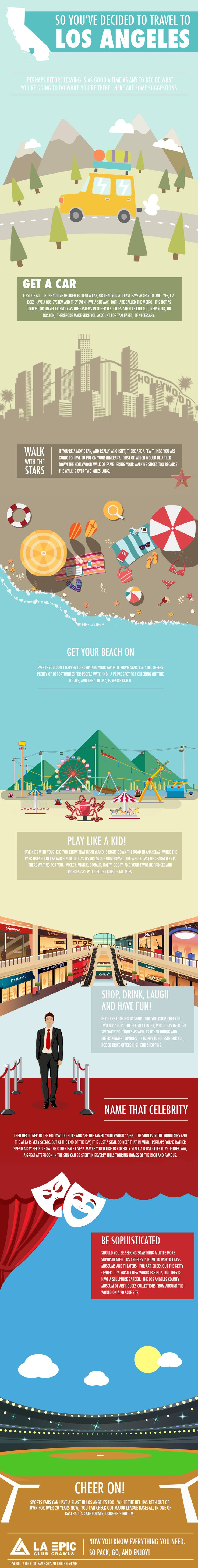 Things to Do in Los Angeles #infographic #Travel #LosAngeles