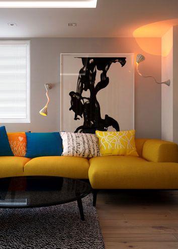 Living room design in Kalety POLAND - archi group. Pokój dzienny w domu jednorodzinnym w Kaletach.