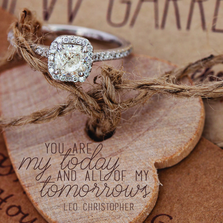 Tie the knot with this cushion cut diamond ring | Ladies Amarra Cushion Cut Diamond Engagement Ring in 18k White Gold | Riddle's Jewelry