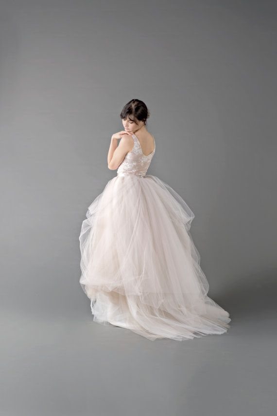 Love this, the front is even prettier!! | Catherine  tulle gown skirt / tulle wedding by WardrobeByDulcinea
