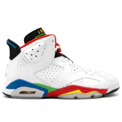 Latest Listing Air Jordan 6 (VI) Retro Olympic White/Varsity Red-Green Bean- New Blue Shoes Store