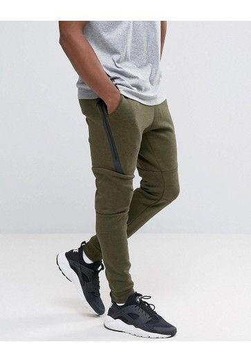 quality design 4f8de 3a9fe NIKE Joggers de polar ajustados en verde Tech 805162-330 de Nike Ropa  deportiva Hombre ROPA Pantalones jogger D1C44DCF