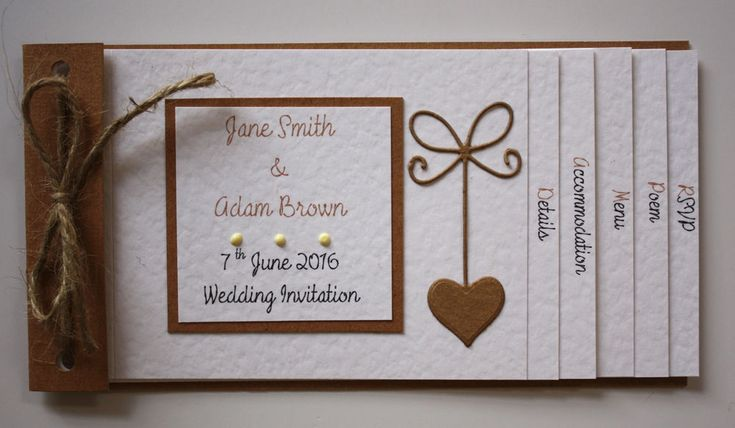 Vintage Shabby Chic RUSTIC ROMANCE cheque book Wedding Invitations : 60 colours | eBay