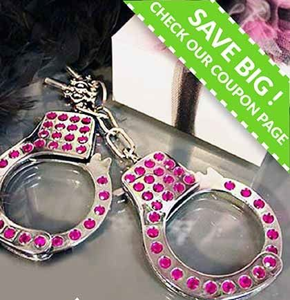 This Pink Rhinestone Handcuff Set is a fun lingerie shower gift!