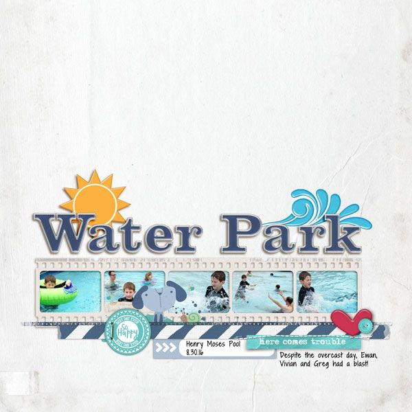 Water Park - Katie Pertiet Curated Studio Mix No 5 - frame Curated Studio Mix No 9 - bg paper Curated Studio Mix No 28 - elements Curated Studio Mix No 31 - alpha   Studio DoubleD Readymade Layer Little Dude Borders 4 Font   Shadow Into Light