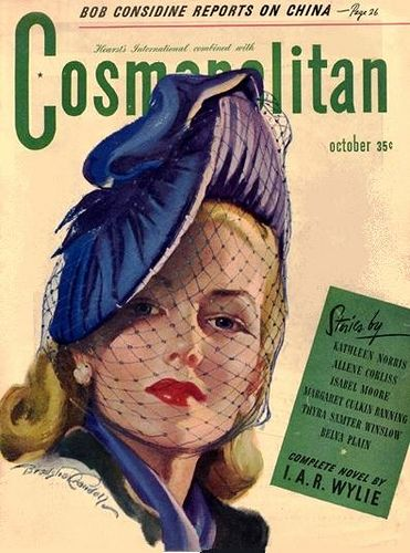 1940s Cosmo cover.  Glamourous!