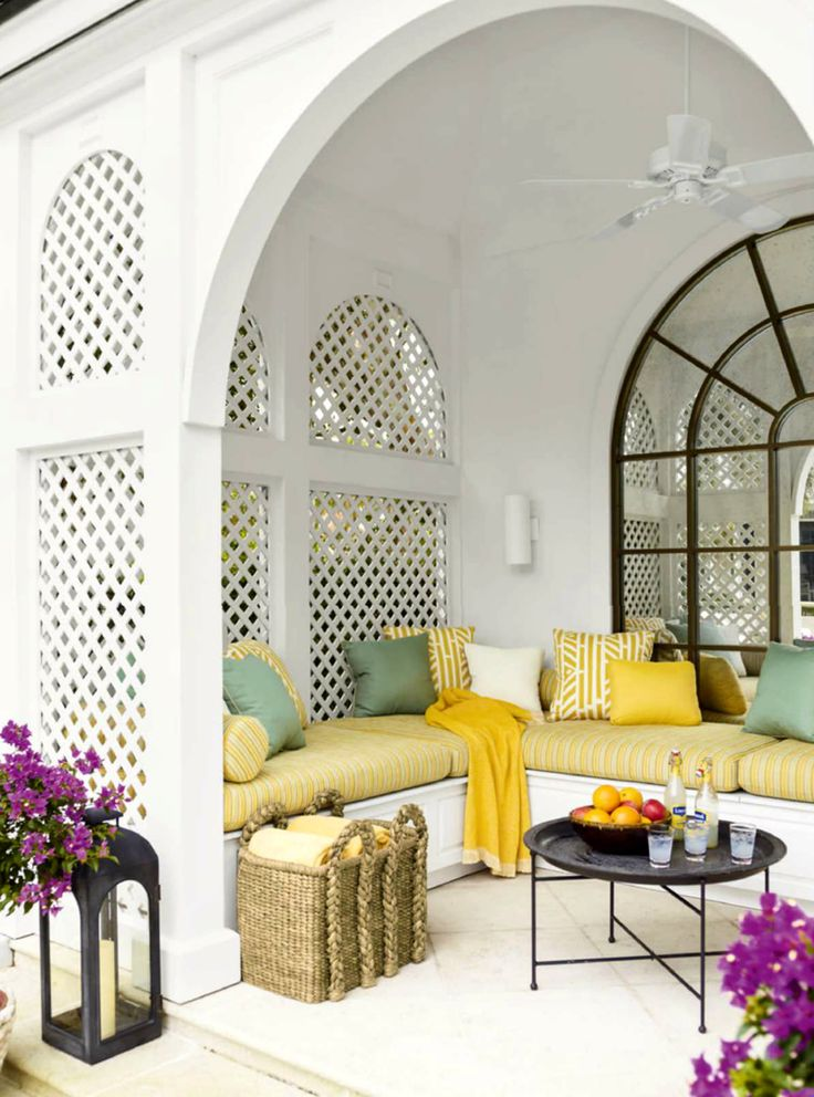 Outdoor Living With Incredible Pops Of Yellow