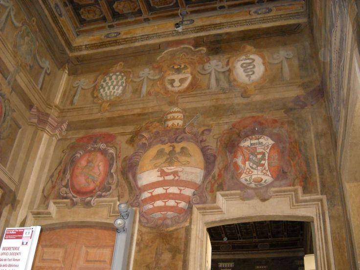 Stemma Borromeo, Scalone degli Stemmi, Palazzo Borromeo Arese, Cesano Maderno (MB).