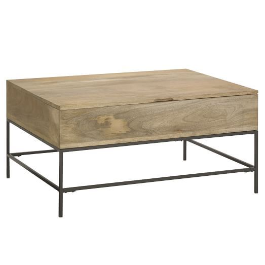 Industrial storage coffee table industrial storage for West elm coffee table sale