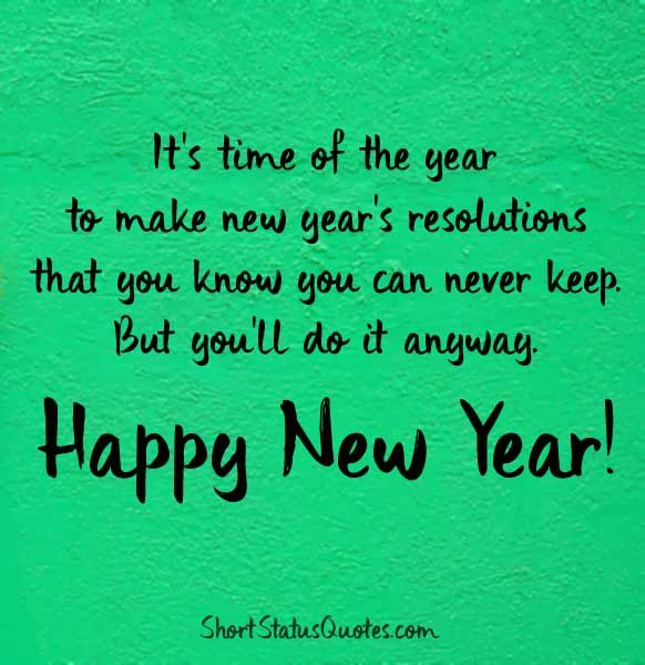 Funny New Year Status For Whatsapp Funny New Year Status Happy New Year Status New Year Captions