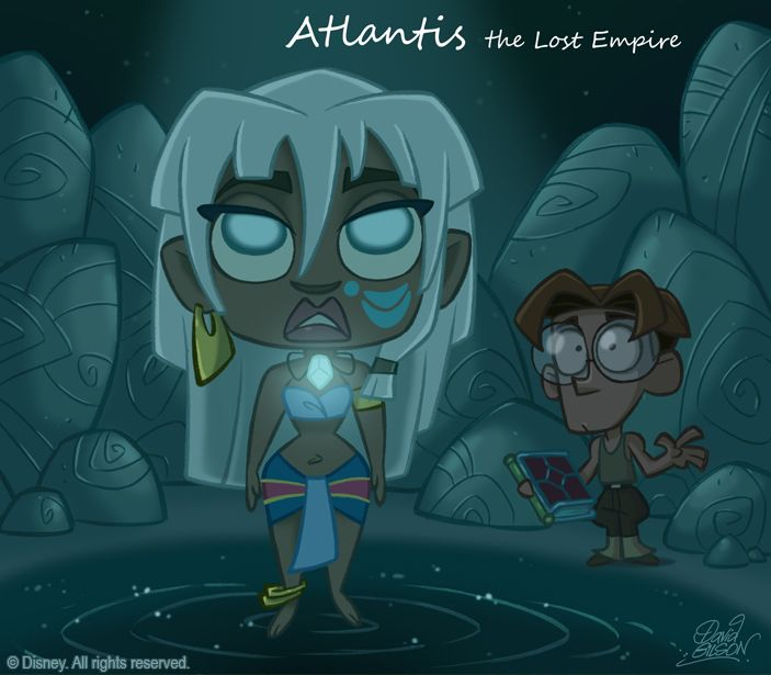 50 Chibis Disney : Atlantide, l'empire perdu (Atlantis, The Lost Empire) by David Gilson
