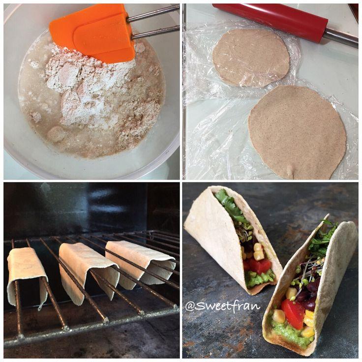 Tacos de avena caseros, receta paso a paso en www.sweetfran.cl✨