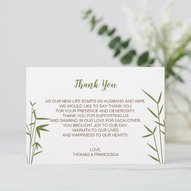 Create Your Own Flat Thank You Card Zazzle Com Thank You Cards Wedding Thank You Cards Thank You Card Template
