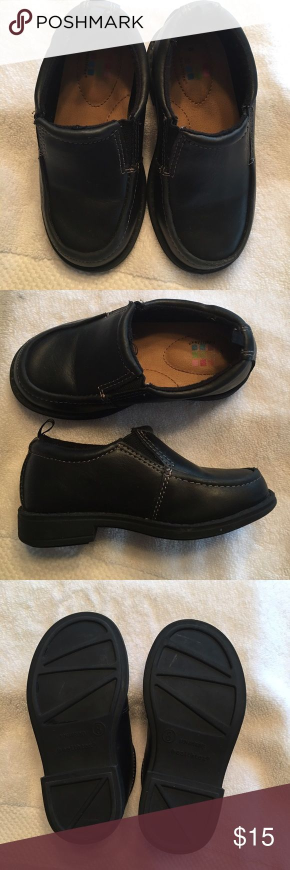 Toddler boy dress shoes Healthtex black toddler dress shoes.  Wore 1 day only.  Very cute Shoes Dress Shoes