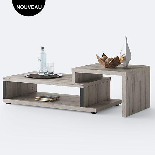 Table basse extensible DURBAN Camif à double plateau prix Table Basse 359.00 €