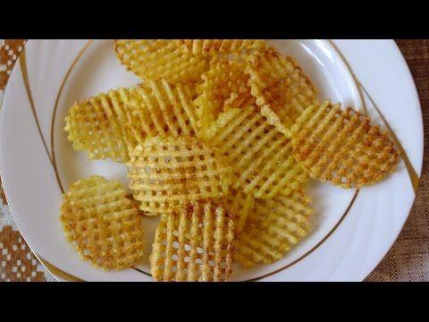 Как приготовить картофельные чипсы в домашних условиях How to make Potato Chips - YouTube