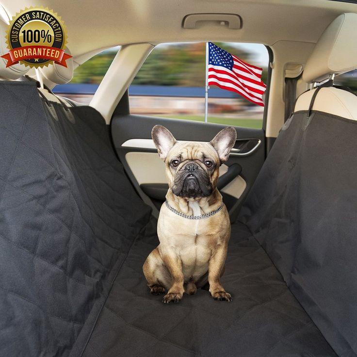 Pet-A-Bite Reliable Pet Car Seat Cover: No More Dog Hair on the Back Seat! Waterproof Luxury Hammock Protector with Flaps & PVC Storage Bag. Vehicle & SUV Puppy Comfort Accessory. Dirt & Fur Proof