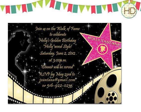 Best 25 Hollywood Invitations ideas – Red Carpet Party Invitation