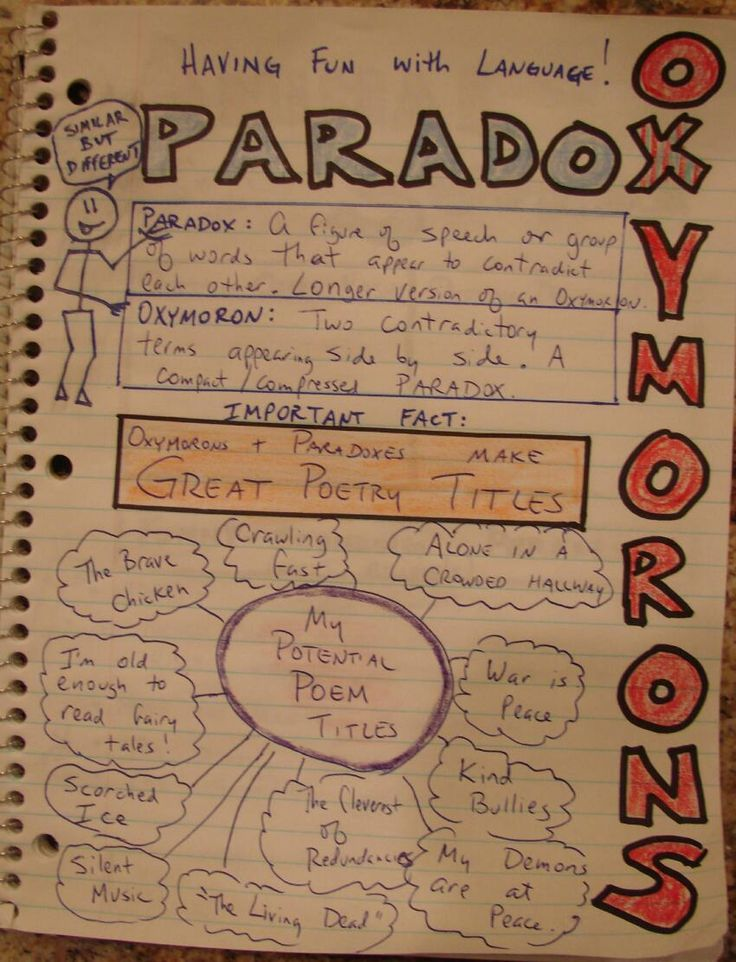 Paradox and Oxymoron Collections: