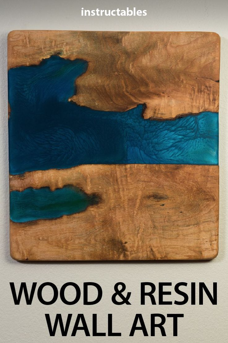 Ease into wood and resin projects by making a simple piece of wooden and resin w…