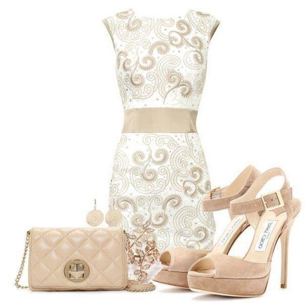 Beige day dress