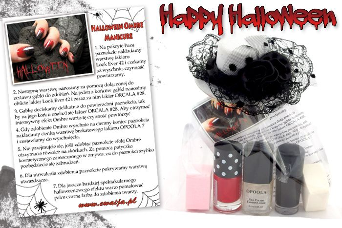 Halloween Ombre Manicure