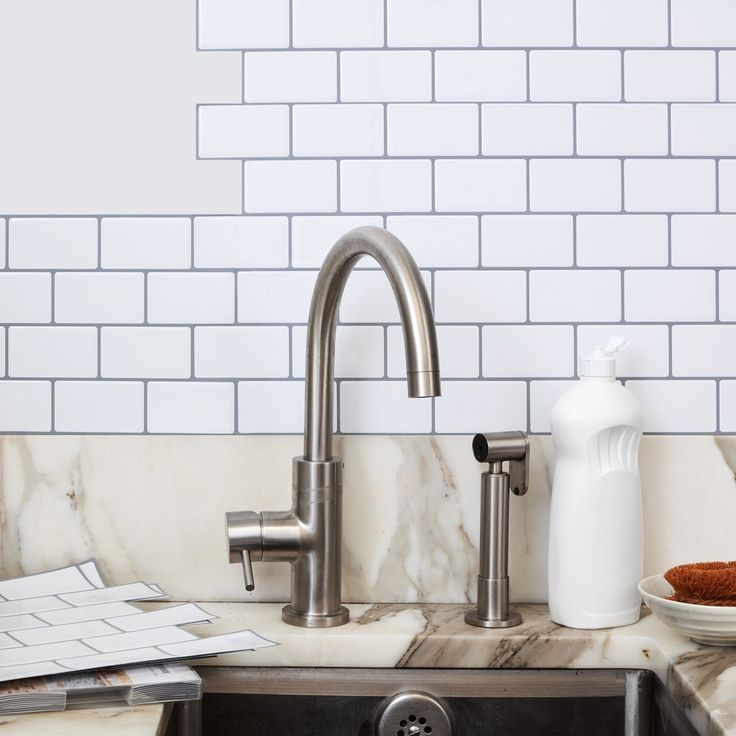 Transform Your Kitchen for $30 with These Stick-On Subway Tiles