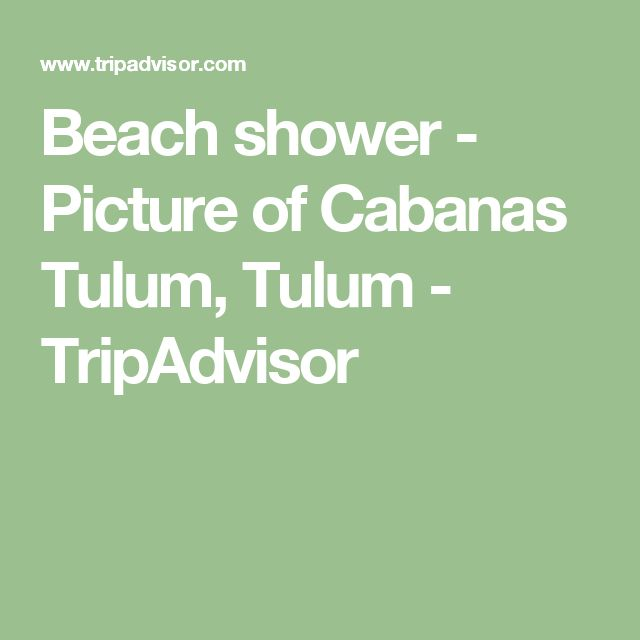 Beach shower - Picture of Cabanas Tulum, Tulum - TripAdvisor