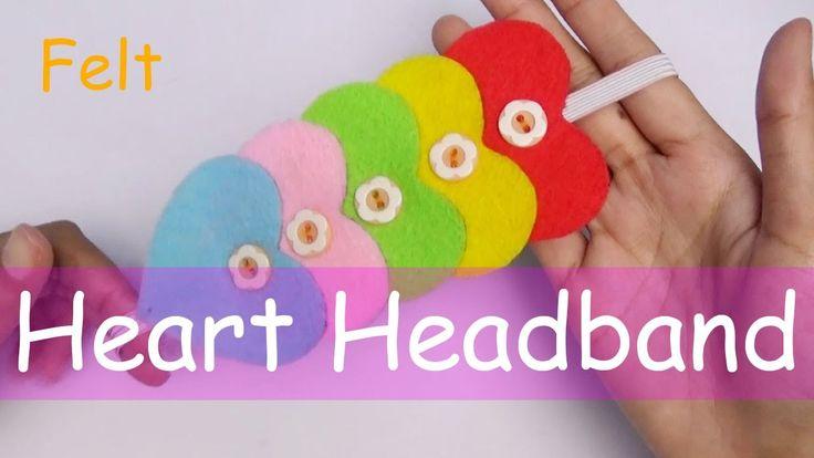DIY Felt Heart Headband - Crafts Easy - Nursery Rhymes For Kids And Chil...