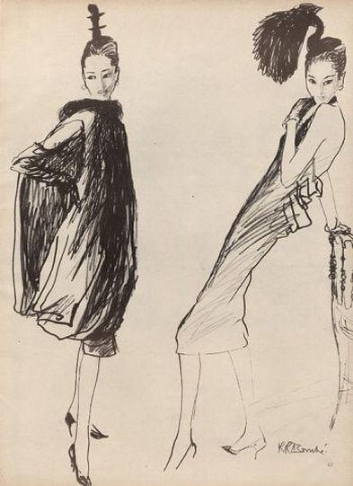 Givenchy, 1957. Rene Bouche.
