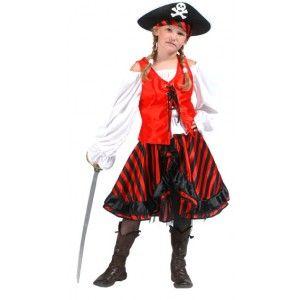 Déguisement pirate enfant fille, fêtes, thème pirate, carnaval. http://www.baiskadreams.com/499-deguisement-pirate-enfant-fille.html